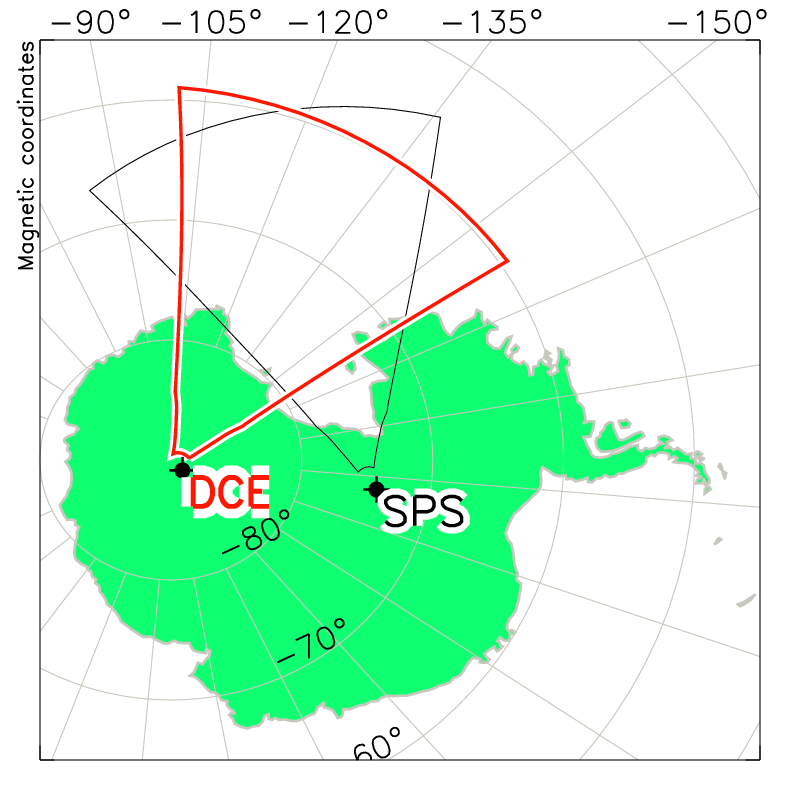 Dome C Radar Field of View Map
